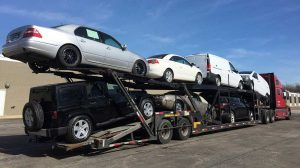NYC car shipping - open auto transporter