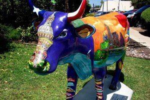 Austin street art cow
